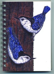 Cover image - White-Breasted Nuthatches Mini Journal