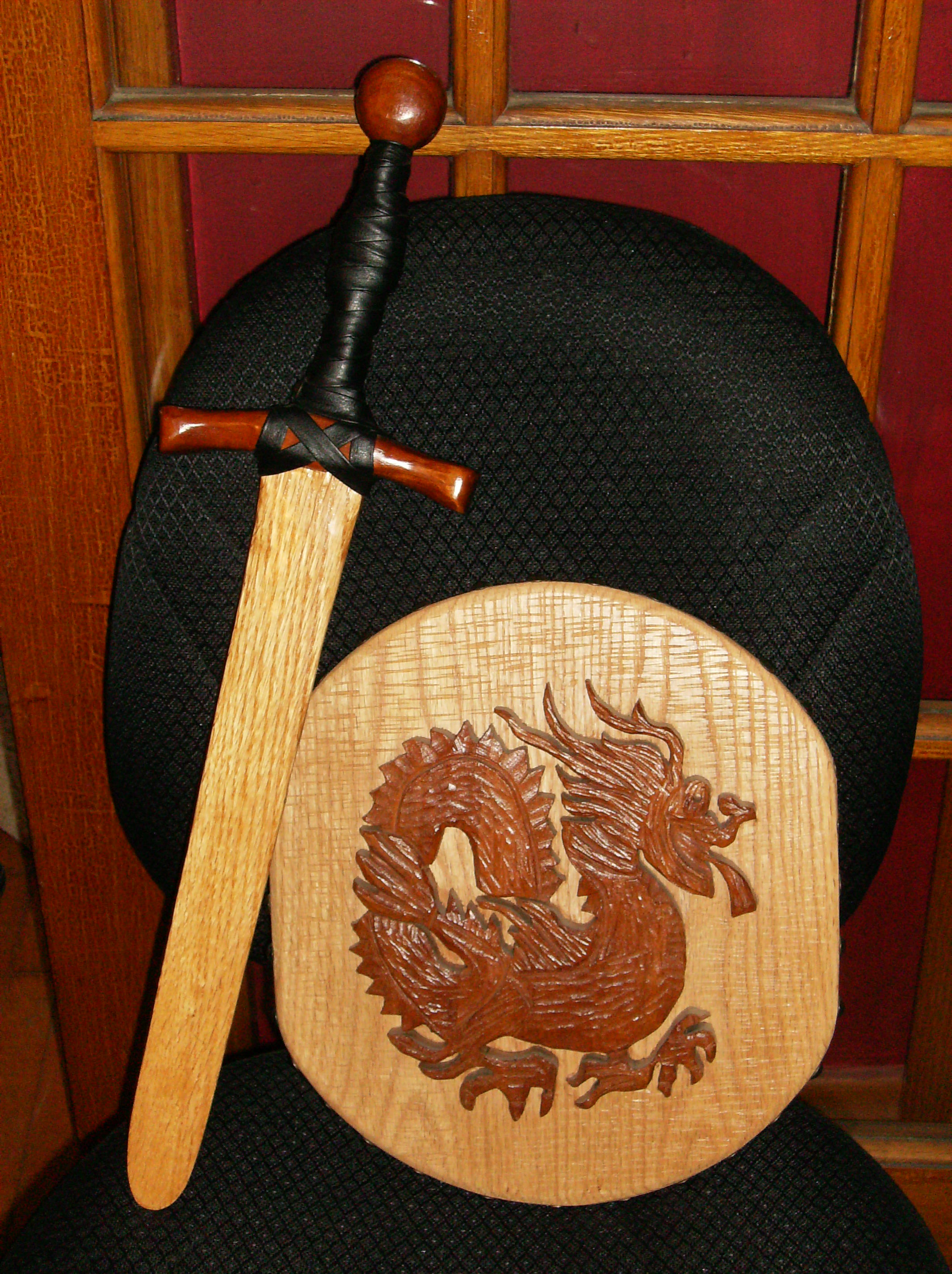 Sword & Shield in Cherry and Red Oak
