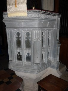Breage: an unusual stone pulpit