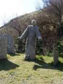 Gunwalloe: a modern sculpture of the saint