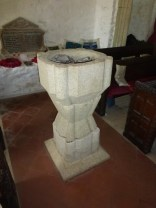 Gunwalloe: C19 font in the style of a C13 one