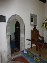 Entrance to the prayer room and aumbry
