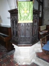 Tywardreath: pulpit