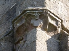 Lanlivery: tower carving