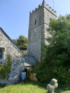 Talland: the pentice linking the church and tower