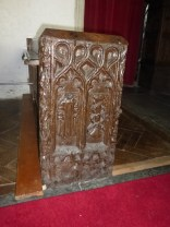 St Eval: a bench end