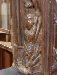 St Ewe: a figure from the rood screen