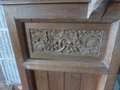 St Gennys: C20 carving on the pulpit