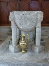 St Stephen in Brannel: the Norman font