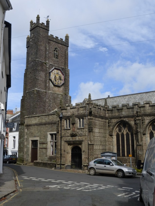 Launceston St Mary: the porch and link building