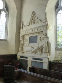 Launcells: monument to Sir John Chamond