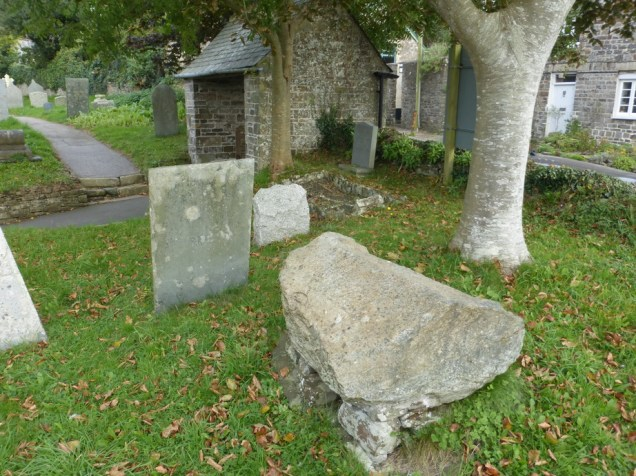 Poughill: the granite slab