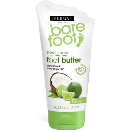 Freeman Bare Foot Lime + Coconut Butter Cream Lotion, 4.2 fl oz/124ml