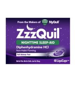 Vicks ZzzQuil Nightime Sleep Aid 48 LiquiCaps