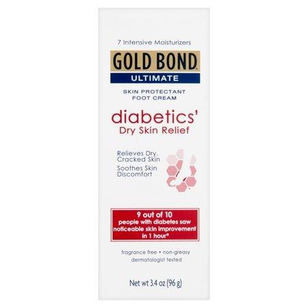 Gold Bond Diabetics Dry Skin Relief Foot Cream 3.4oz/96g