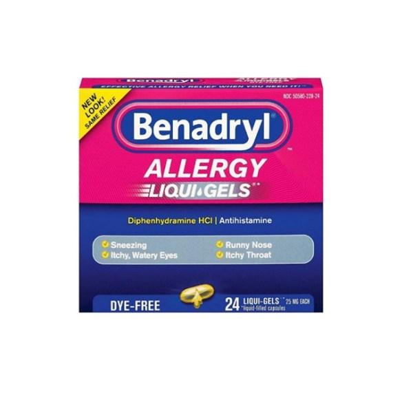 Benadryl Allergy Dye-Free, 24 Liqui-Gels