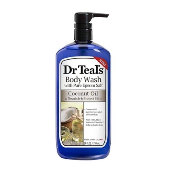 Dr Teal's Body Wash Coconut Oil Nourish & Protect 24floz./710ml