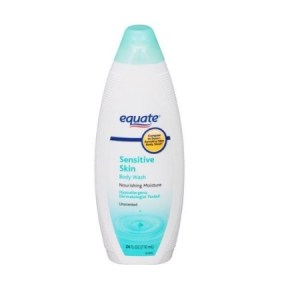 Equate Sensitive Skin Unscented Body Wash, 24 fl.oz/710ml