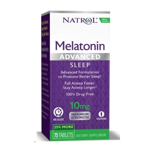 Natrol Advanced Sleep Melatonin 10mg, 75 Tablets