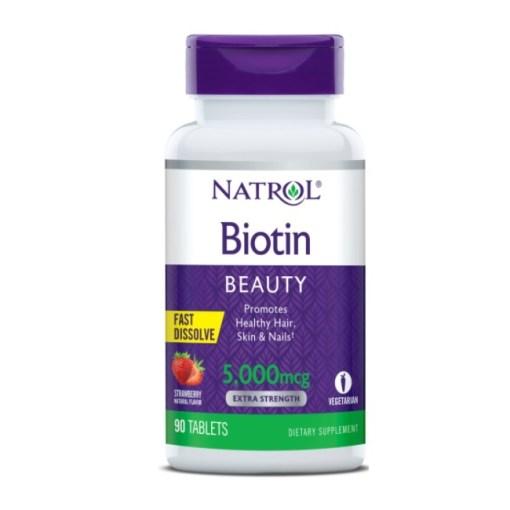 Natrol Biotin 5,000mcg Fast Dissolve, 90 Tablets