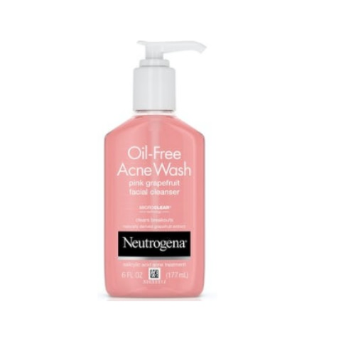 Neutrogena Oil-Free Acne Wash Pink Grapefruit Facial Cleanser 6 fl.oz/177ml