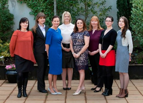 Pictured from LtoR – Helen McArdle (Feedthepulse, Claregalway), Ciara Shine (Shine's Seafood, Killybegs), Deirdre McGlone (Lead Entrepreneur and Harvey's Point), Martha Kearns (Storylab, Sligo), Aisling Gillespie (Bidlims Moods, Letterkenny), Wendy Kavanagh (Irish Food Tours, Kildare), Jenny Lawlor (Sligo), Ruth Graham (Aye Do, Letterkenny)