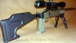 Remington 700 with a Choate folding stock.