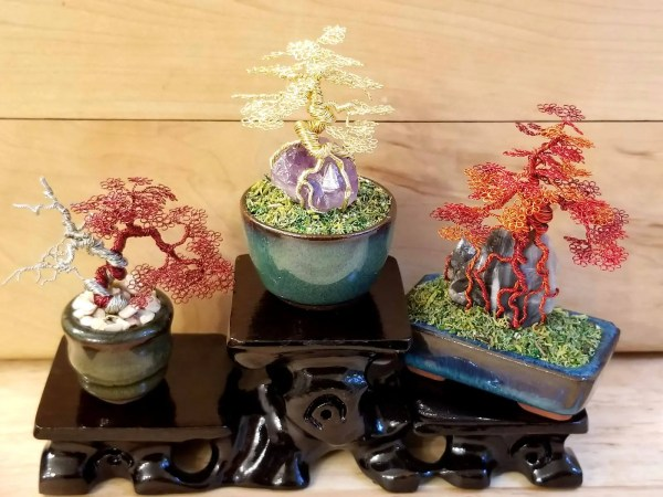 Large Miniature Wire Bonsai Trees