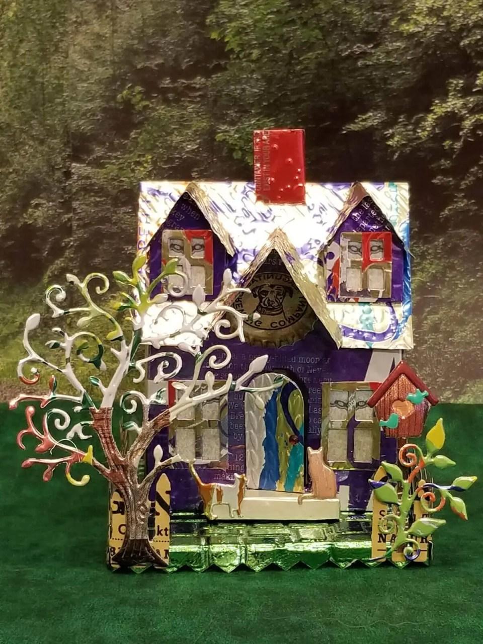 Cape Cod House #3 aluminum can house