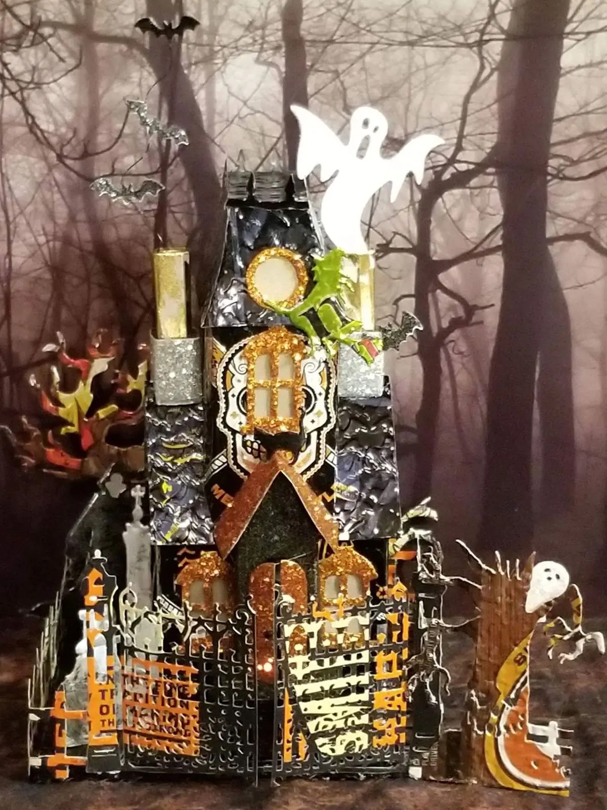 Halloween Manor #5 aluminum can house