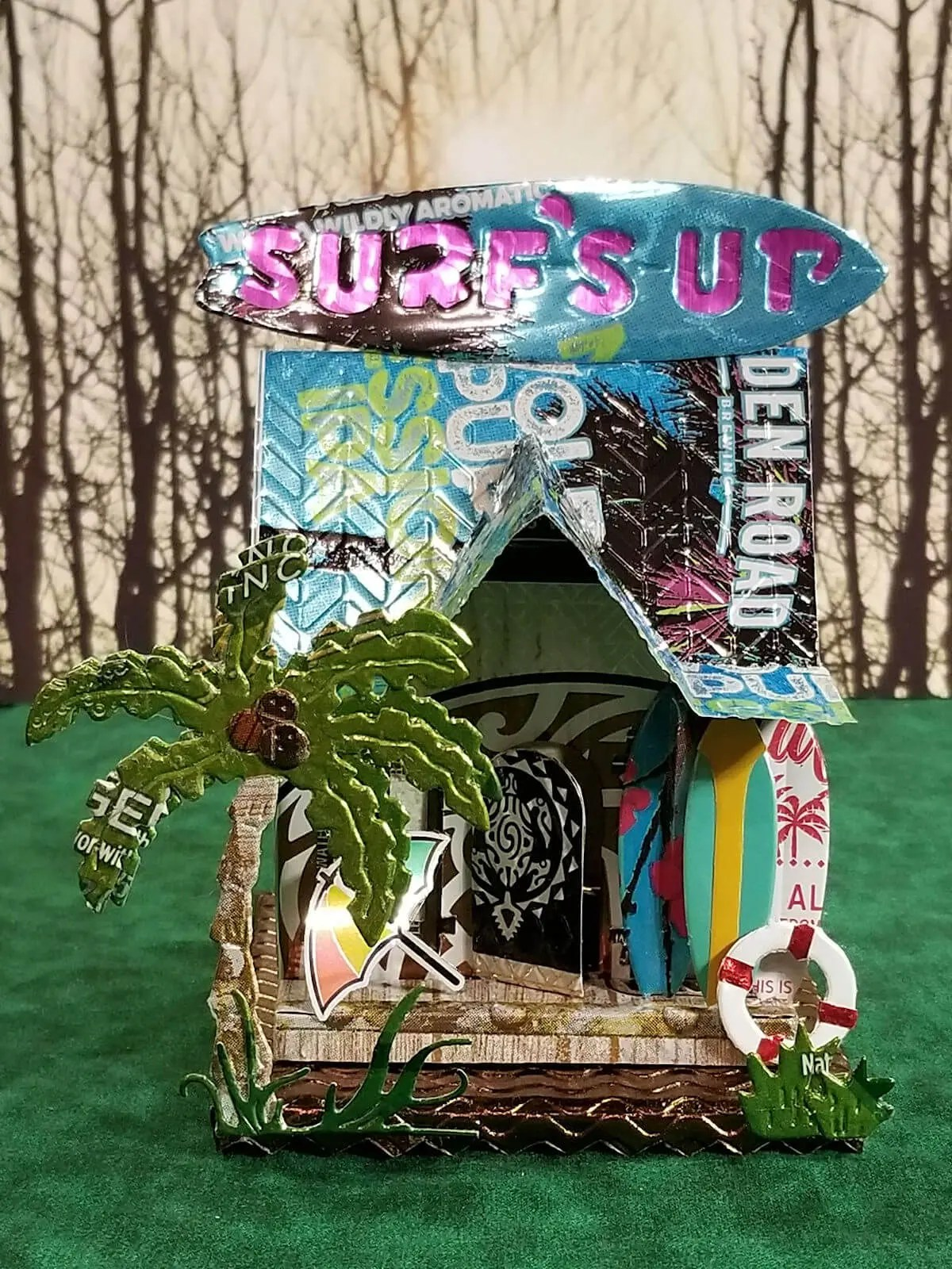 Surf Shop #1 aluminum can house