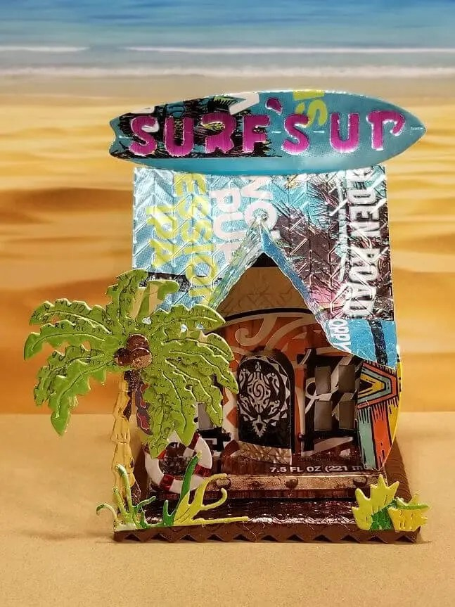 Surf Shop #4 aluminum can house