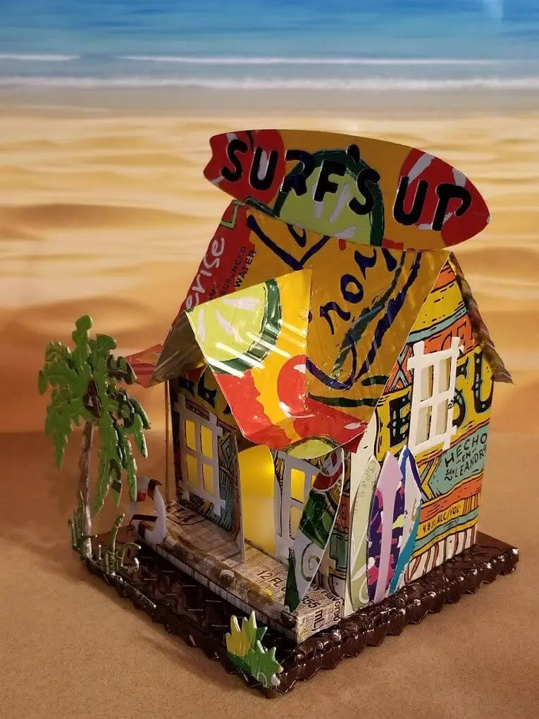 Surf Shop #5 aluminum can house