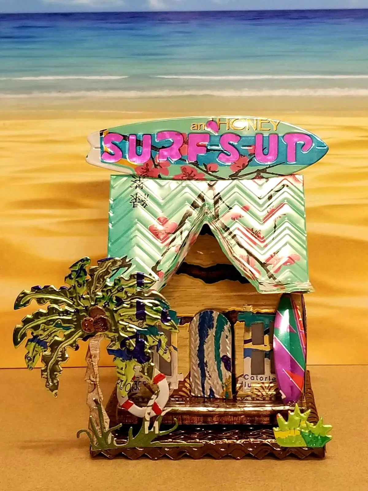 Surf Shop #6 aluminum can house