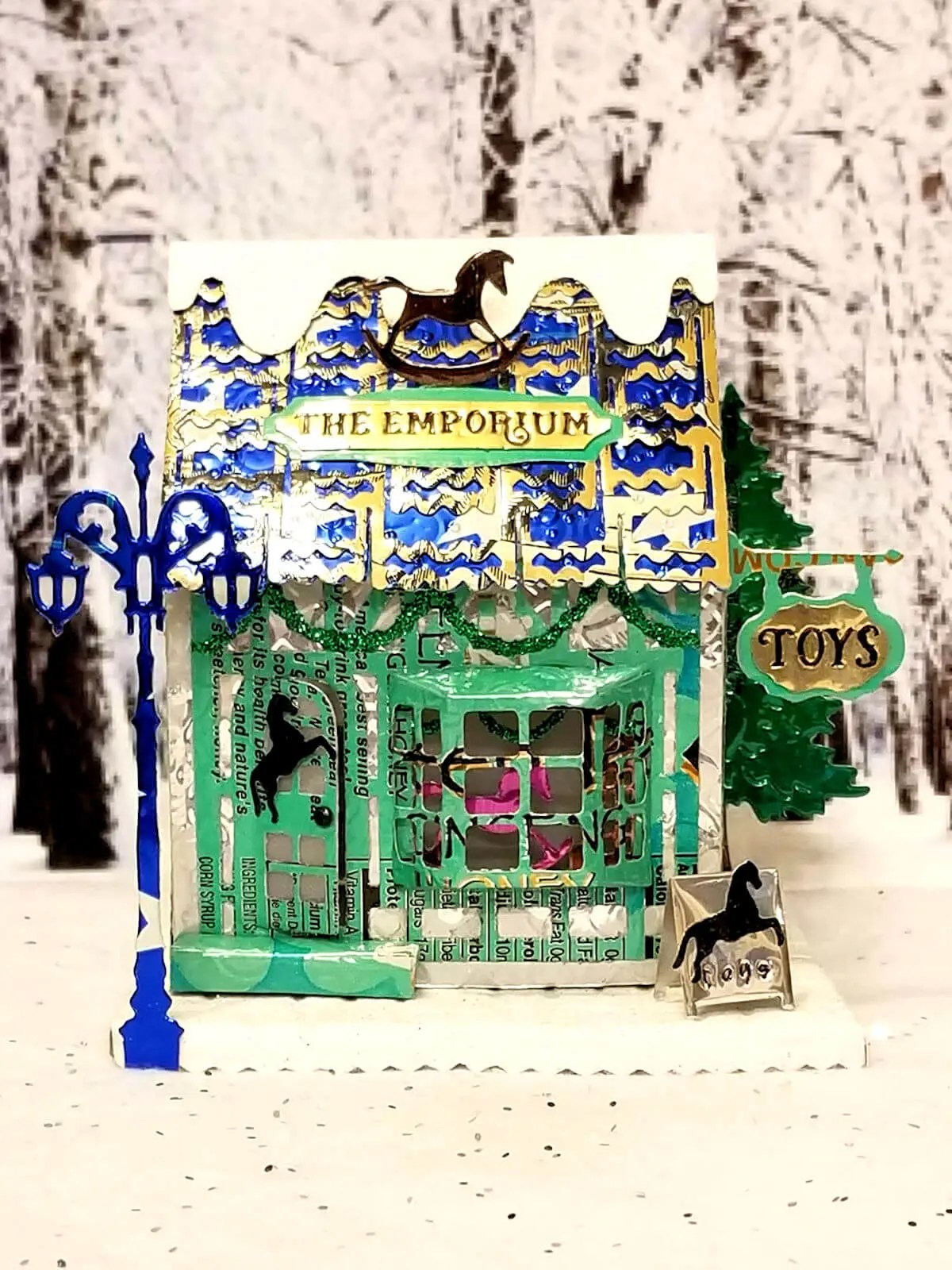 Winter Toy Shoppe #2 aluminum can house