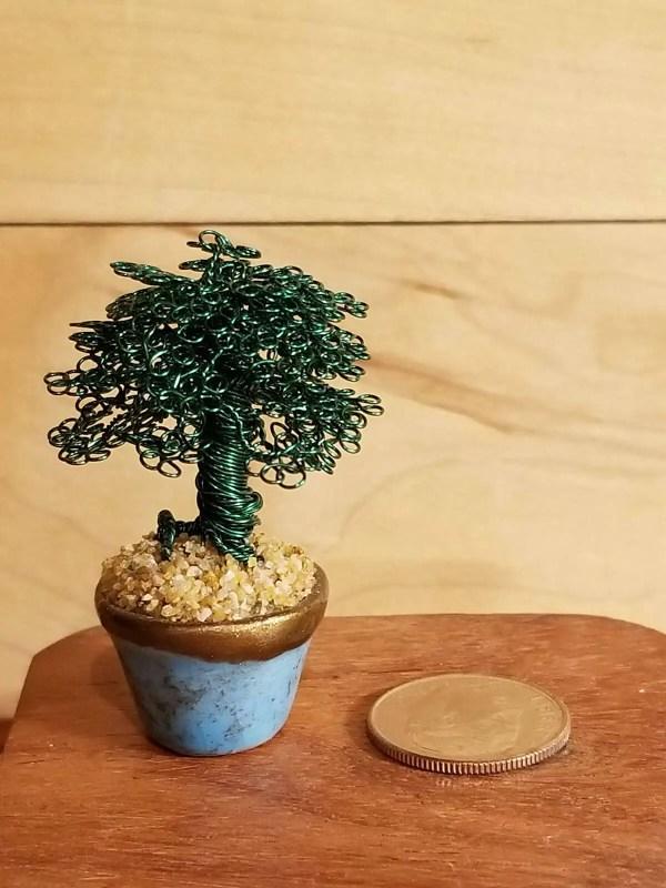 Miniature Wire Bonsai Tree M6 image 4 of 5