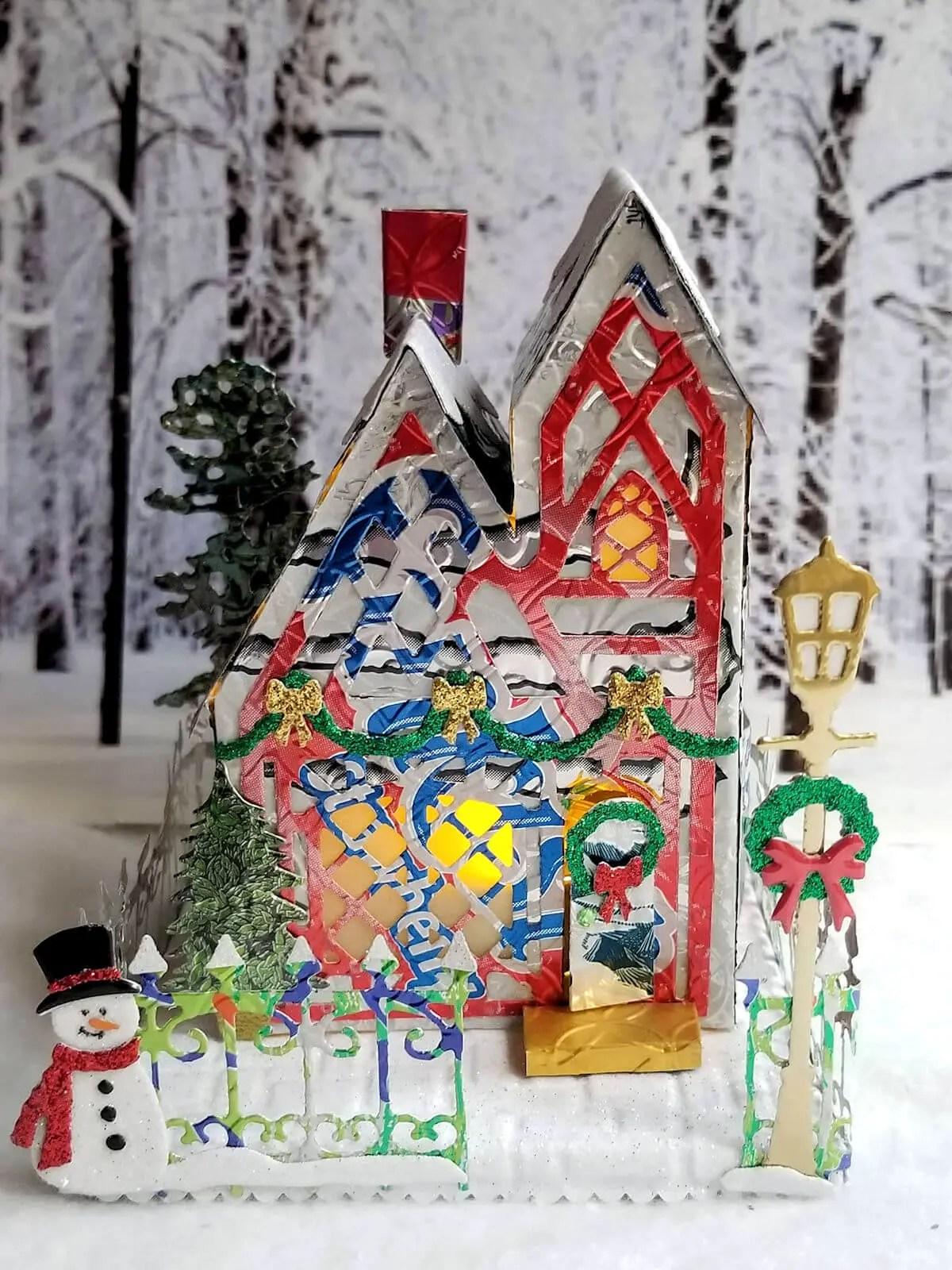 Winter Tudor Cottage #3 aluminum can house