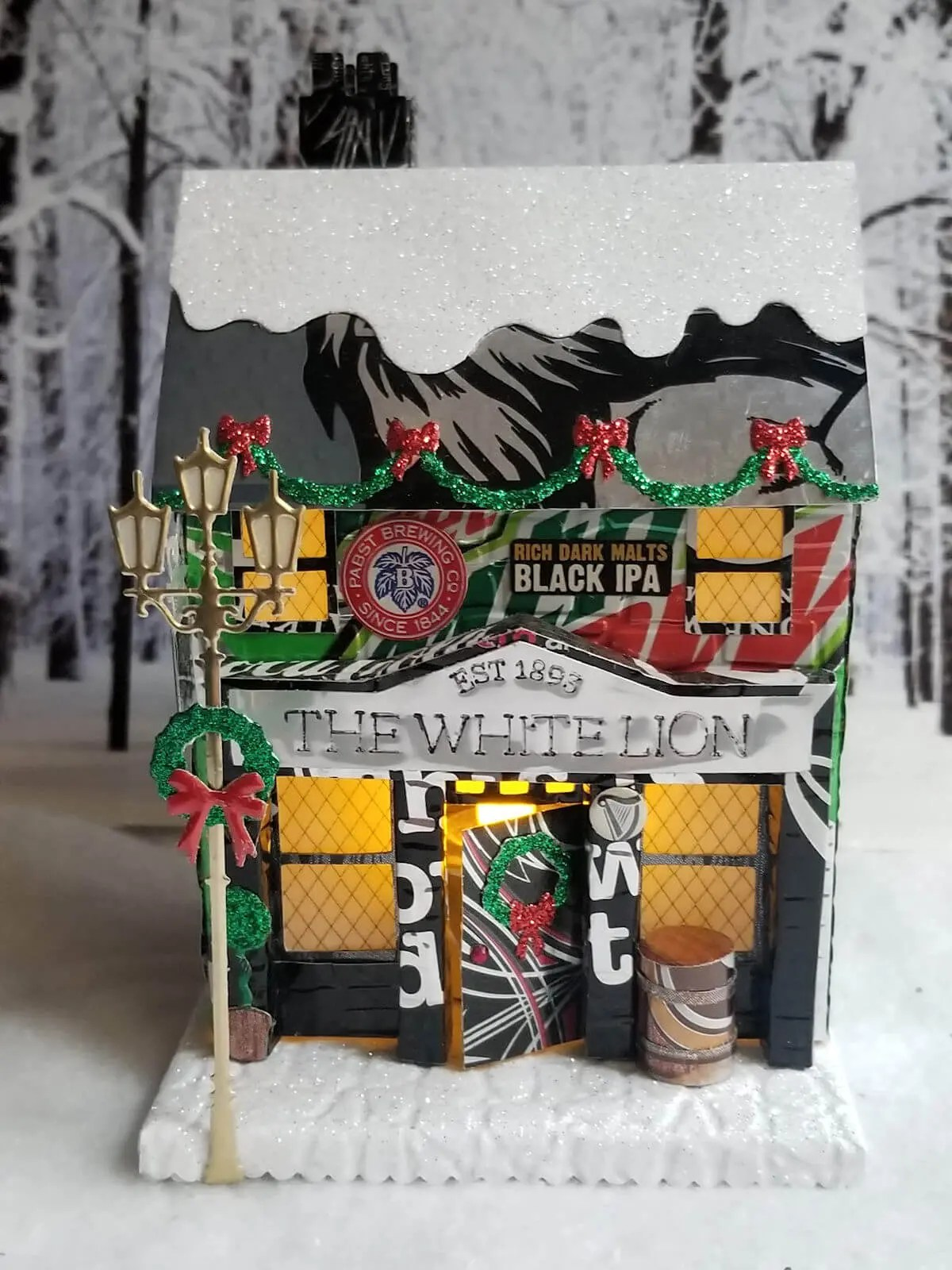 Winter Village Pub #1 aluminum can house