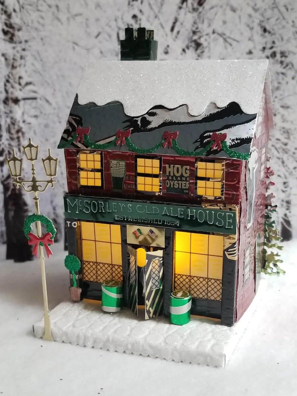 Winter Village Pub #2 aluminum can house