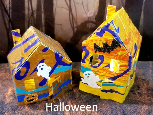 Tiny house Halloween embellishment