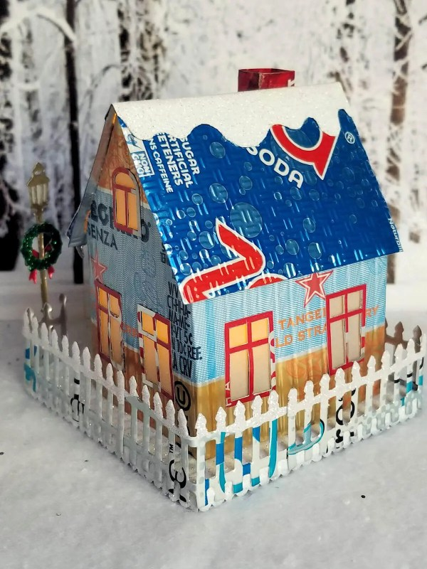 Winter Country Cottage aluminum can house image 5 of 6