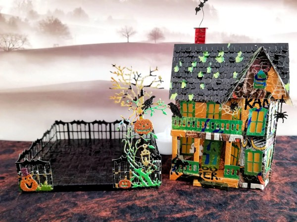 Spooky Halloween House aluminum can house image 9 of 9