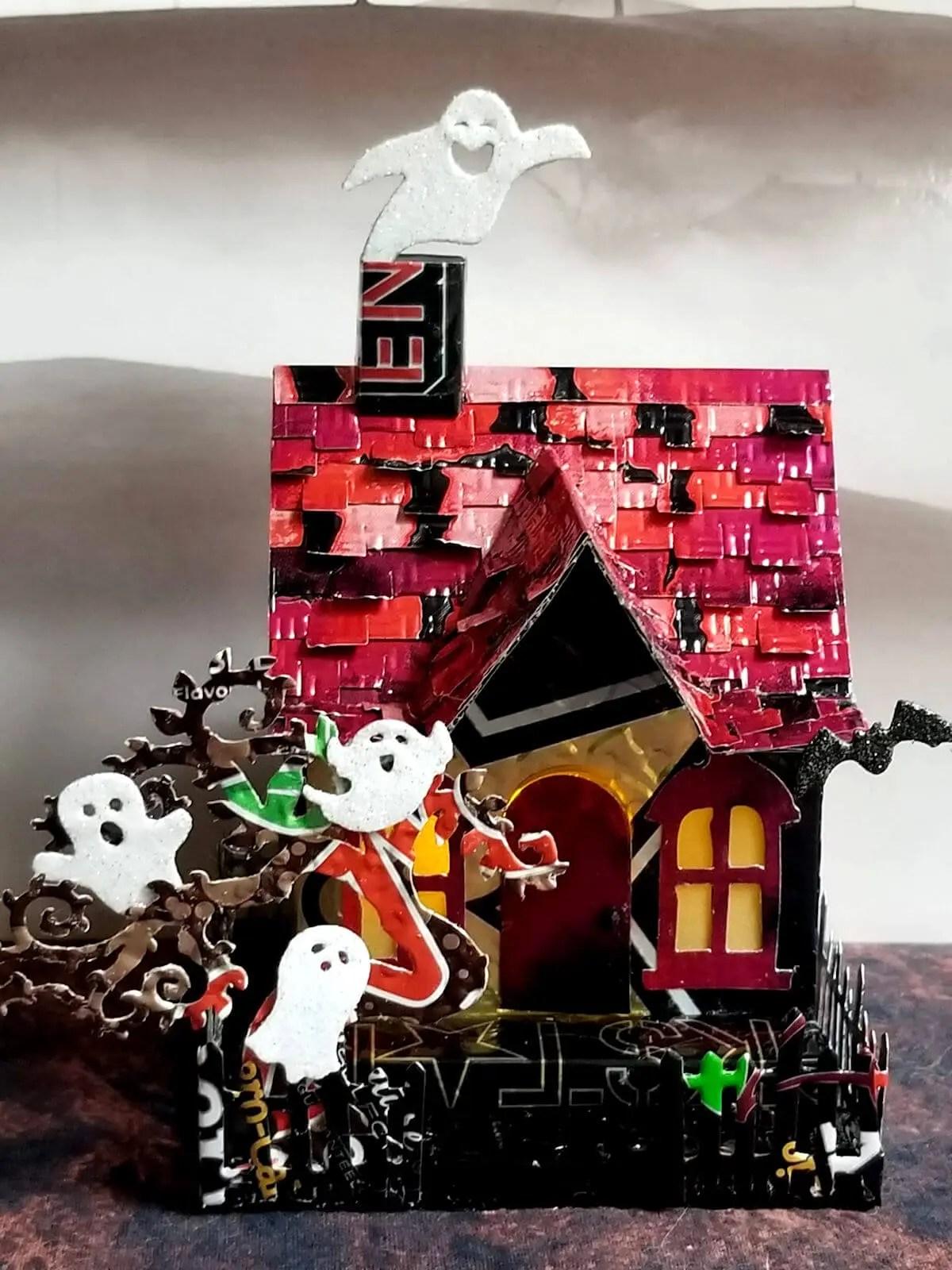 Halloween House #5 aluminum can house