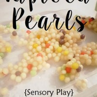 Rainbow Tapioca Pearls {Taste-Safe Sensory Play}