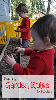 How to Create and Write Garden Rules with Toddlers and Kids. Establishing an Outdoor Classroom.
