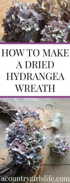 How to Dry Hydrangeas and Make a Dried Hydrangea Wreath