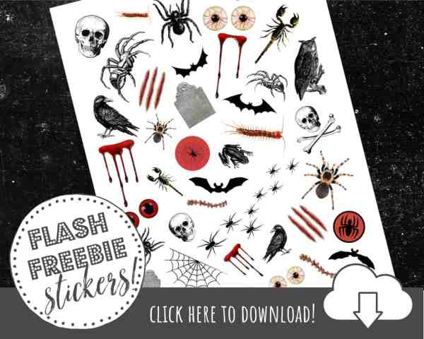 Printable Halloween Tattoos- DIY Your Own at Home With Our FREE Printable!
