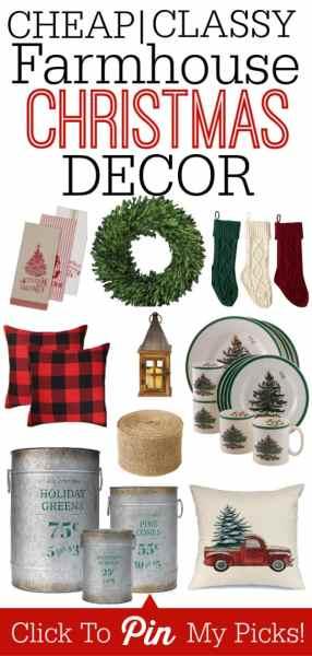 Cheap & Classy Farmhouse Christmas Home Decor