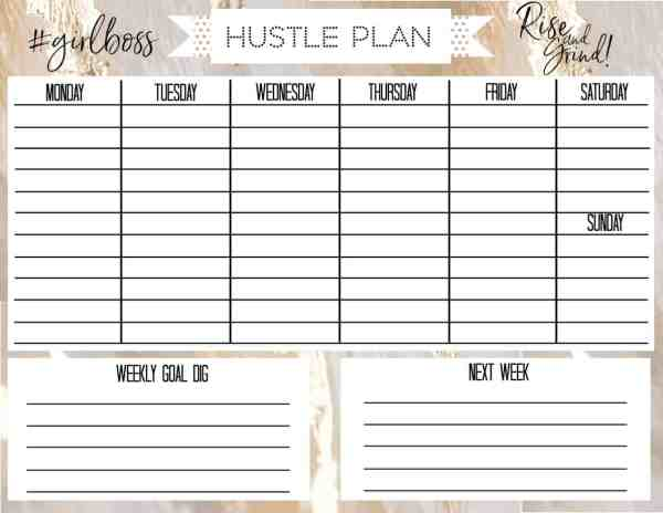 free printable weekly calendar for every style
