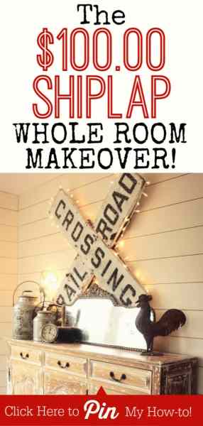 The $100.00 Shiplap Dining Room Makeover